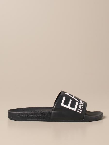 EA7 rubber sandal with logo