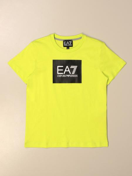 EA7 cotton T-shirt with logo print