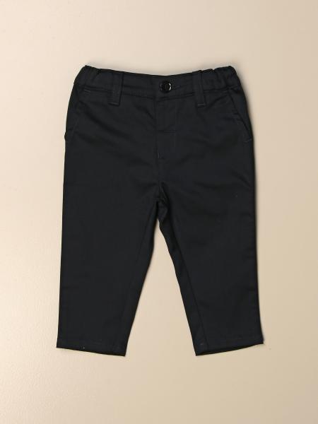 Emporio Armani trousers in stretch cotton satin