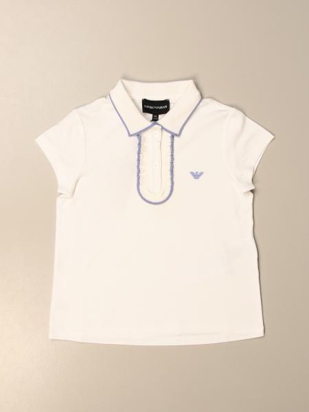 Polo Emporio Armani in cotone piquet con logo