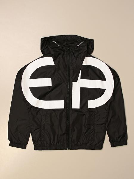 Giacca di nylon Emporio Armani con big logo