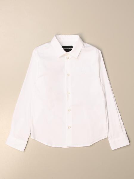 Emporio Armani basic shirt in stretch poplin