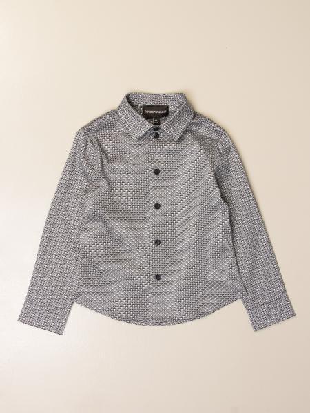Camicia Emporio Armani in cotone con logo all over