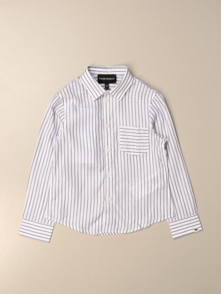 Camicia Emporio Armani in modal a righe