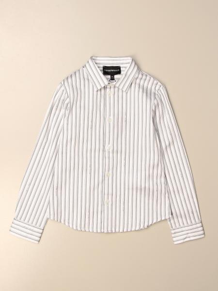 Camicia basic Emporio Armani in cotone a righe