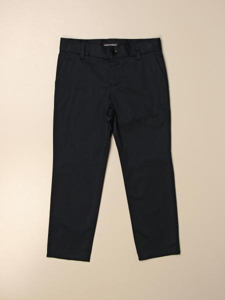 Pantalone Emporio Armani in raso di cotone stretch