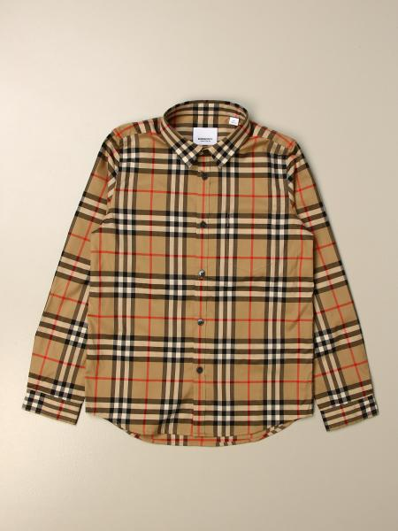 Burberry kids: Burberry shirt in cotton poplin with vintage check pattern