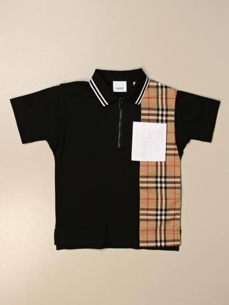 Burberry 格纹棉质Polo衫