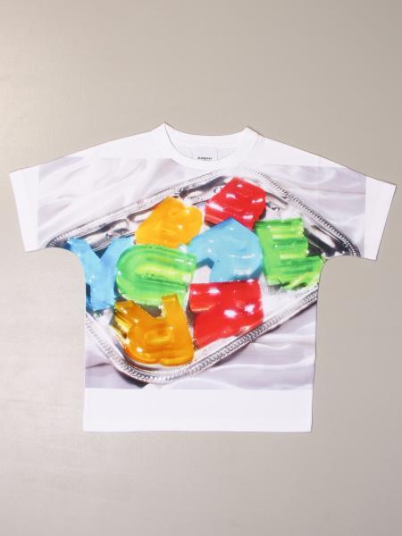 T-shirt Burberry in cotone con logo caramelle