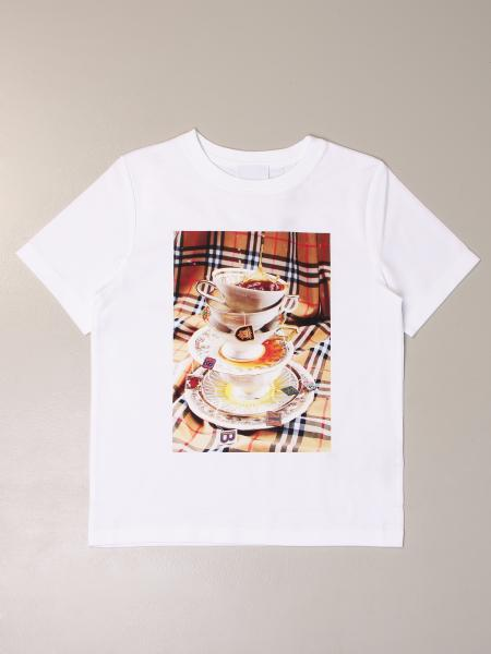Burberry kids: Burberry cotton t-shirt with print