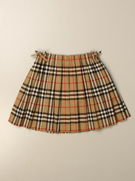 Burberry kids: Burberry pleated check skirt