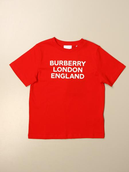 T-shirt Burberry in cotone con logo