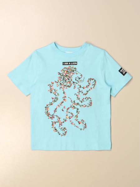 T-shirt Burberry in cotone con stampa leone
