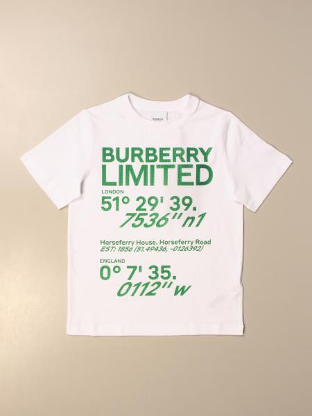 T-shirt Burberry in cotone con stampa Limited