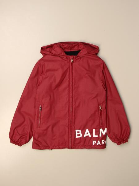 Giacca di nylon Balmain con logo