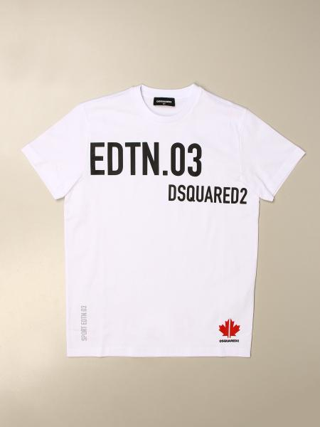 T-shirt Dsquared2 Junior in cotone con big stampe