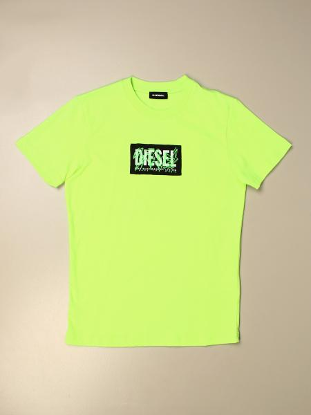 T-shirt Diesel in cotone con logo graffiti
