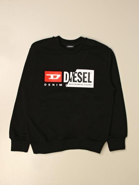 Felpa a girocollo Diesel in cotone con logo