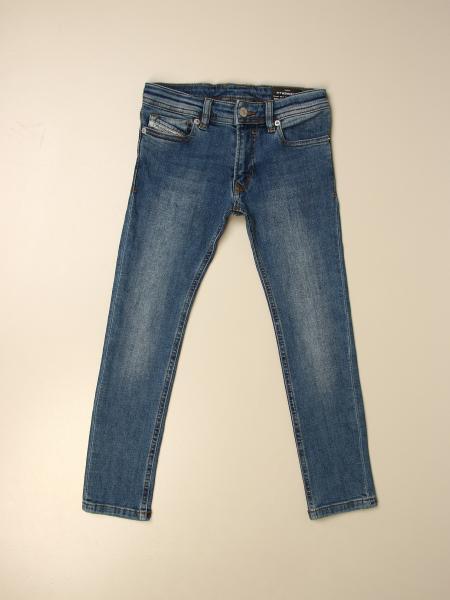 Jeans Sleenker Diesel in denim a 5 tasche