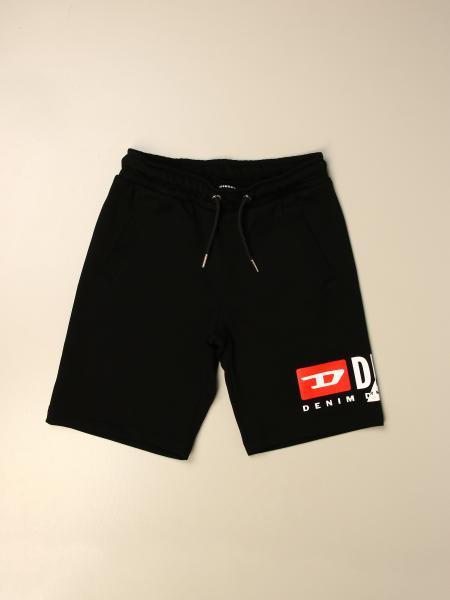 Pantaloncino Jogging Diesel in cotone con logo