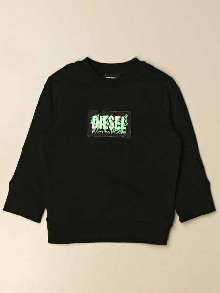 Diesel crewneck sweatshirt with graffiti logo