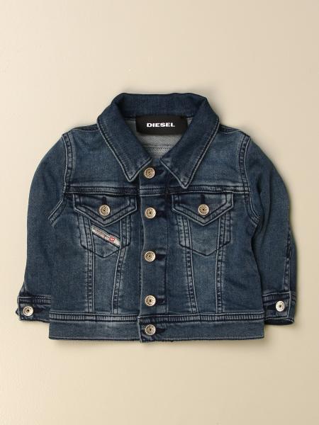Diesel kids: Diesel denim jacket in used denim