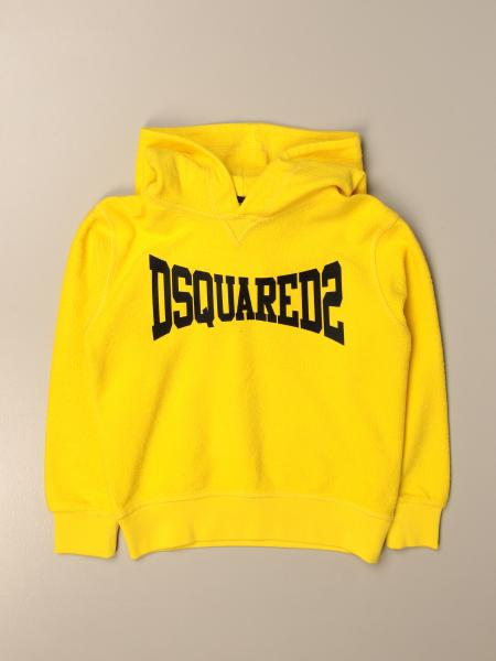 Dsquared2 Junior hooded sweatshirt in cotton with logo