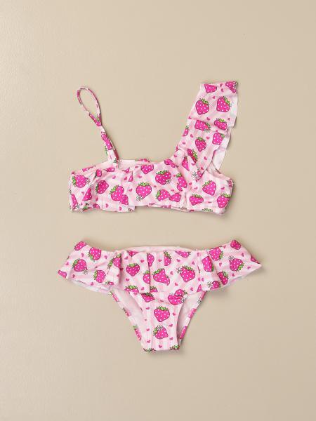 MC2 Saint Barth bikini swimsuit with all-over strawberries