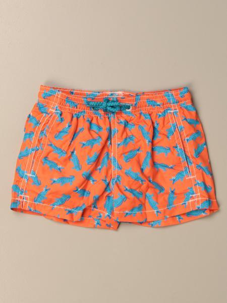 MC2 Saint Barth swim shorts in crocodile patterned nylon