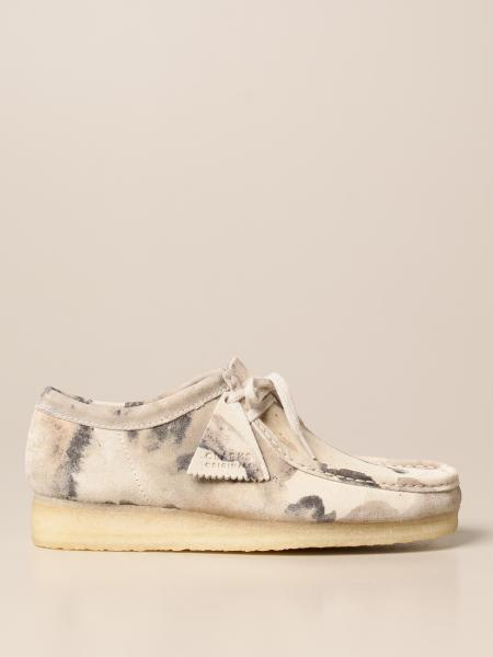 Clarks: Mocassino Wallabee Clarks Originals in suede camouflage