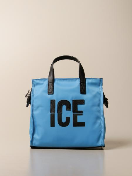 Ice Play shopping bag in fluo nylon