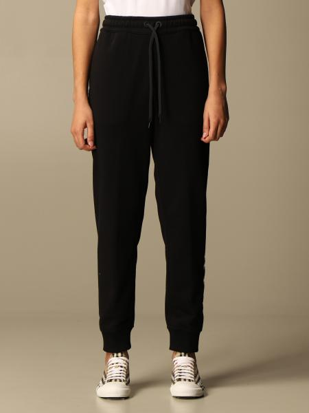 Esmee Burberry cotton jogging trousers with logo