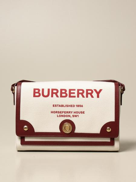 Borsa Horseferry Burberry in canvas con logo