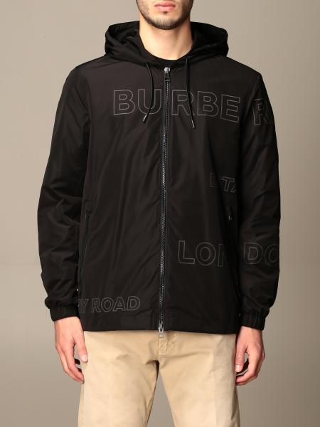 Stretton Burberry hooded jacket in taffeta with Horseferry print