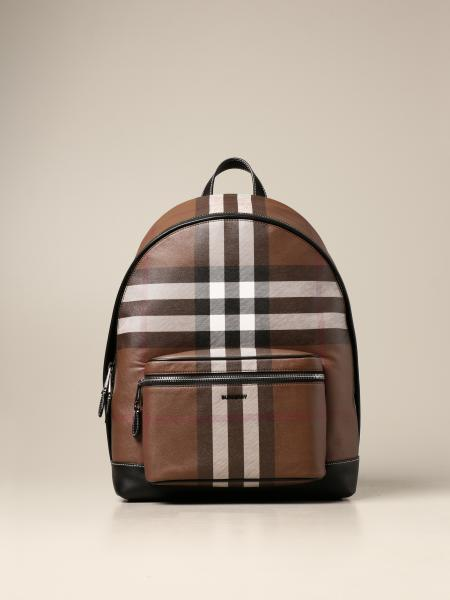 Burberry backpack in E-canvas with check pattern