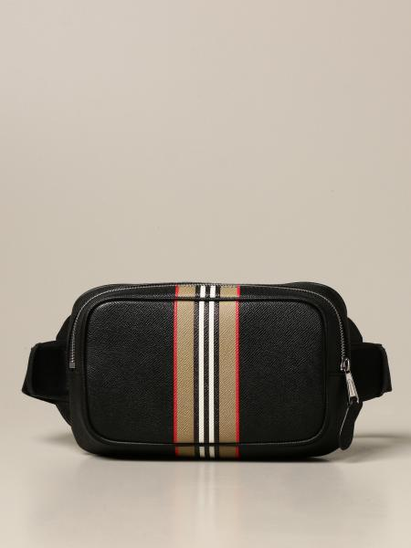 Burberry belt bag in grained leather with striped print