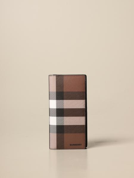 Burberry wallet in E-canvas check and leather