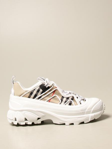 Burberry uomo: Sneakers Arthur Burberry in tela di cotone check
