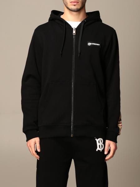 Asherby Burberry sweatshirt with hood and logo