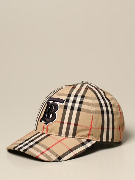 Burberry baseball cap in check cotton with monogram