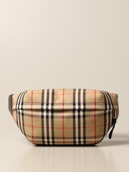 Bum Burberry belt bag in check print canvas