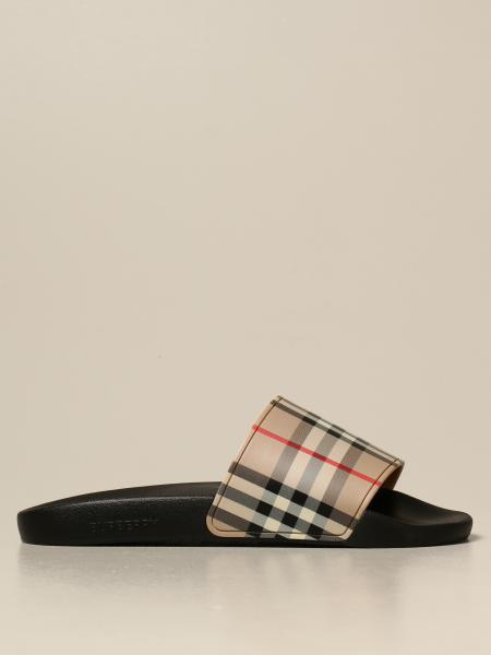Burberry uomo: Sandalo a ciabatta Burberry con stampa check