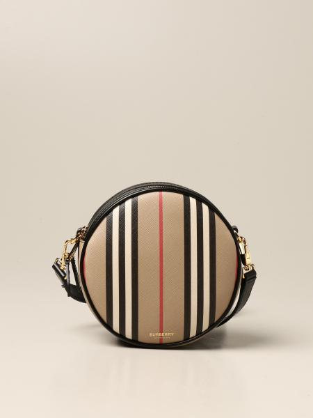 Borsa/Marsupio Louise Burberry in E-canvas con stampa check