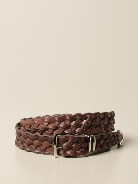 Eleventy belt in woven leather