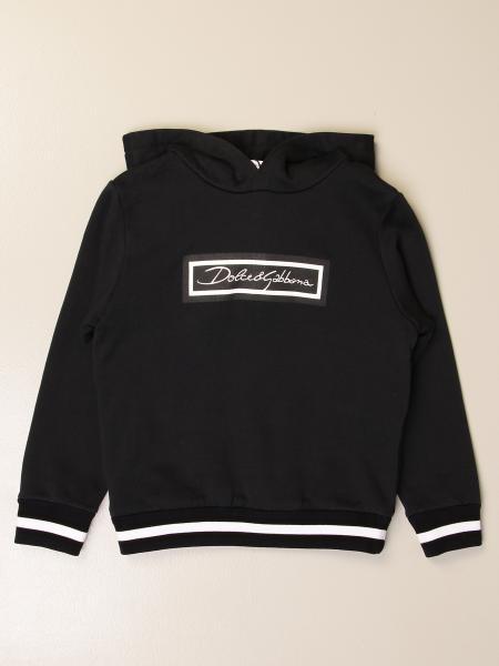 Dolce & Gabbana hooded sweatshirt in cotton with logo