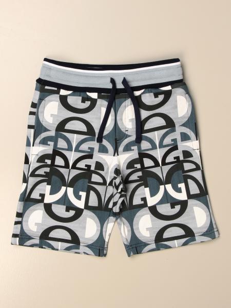 Pantaloncino jogging Dolce & Gabbana con logo DG all over