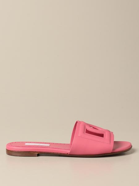 Dolce & Gabbana slide sandal in leather