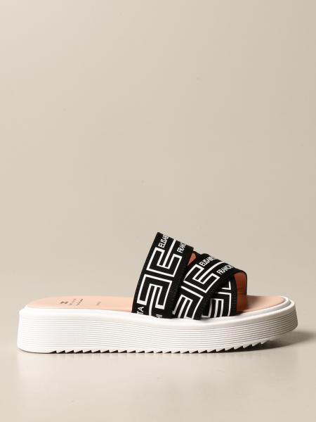 Elisabetta Franchi kids: Elisabetta Franchi sandal with logoed bands