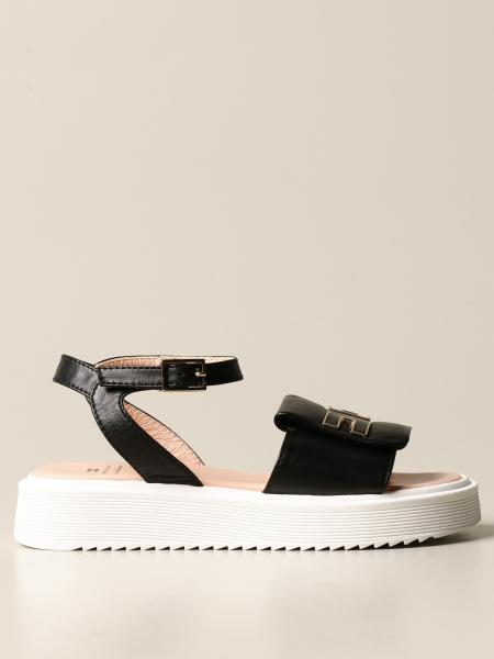 Elisabetta Franchi kids: Elisabetta Franchi leather sandal with logo