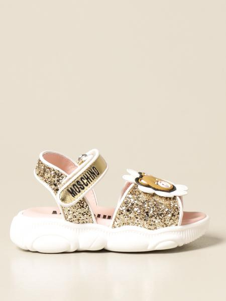 Moschino Baby sandal with teddy sole